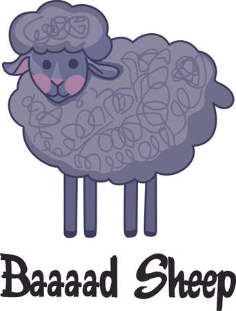 dreamland: Counting sheep help you sleep.  Send your little one to dreamland with these cute sheep.  Perfect for the nursery! Illustration