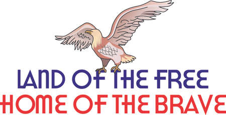 raptorial: Celebrate our freedom on July 4th with this cute crow!  Perfect on items for family and friends to celebrate this day.  They will love it! Illustration