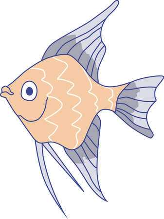 cichlid: This little fish goes swimming by.  Send your little one to dreamland with this cute fish.  Perfect for the nursery.