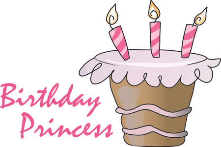 it girl: Give this cupcake to a girl to remember her birthday all year long.  She will love it! Illustration