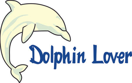 bottle nose: Send this cute dolphin to a child or child at heart.  They will love it! Illustration
