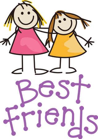 Beste Freunde sind speziell. Lassen Sie Ihre Freunde wissen, wie Special sie mit diesem niedlichen Entwurf sind. Standard-Bild - 44928820