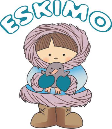 esquimales: Este diseño esquimal es perfecto para un diseño de invierno.