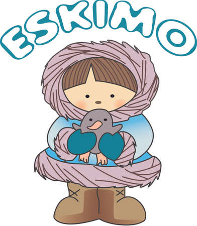 This Eskimo design is perfect for a wintertime design. Фото со стока - 44929269