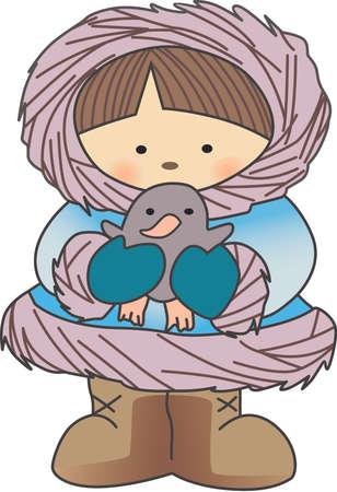 esquimales: Este dise�o esquimal es perfecto para un dise�o de invierno.