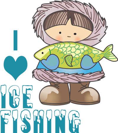 alaskabo: Denna Eskimo design är perfekt för en vinter design.