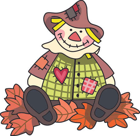 A scarecrow is a perfect fall decoration.