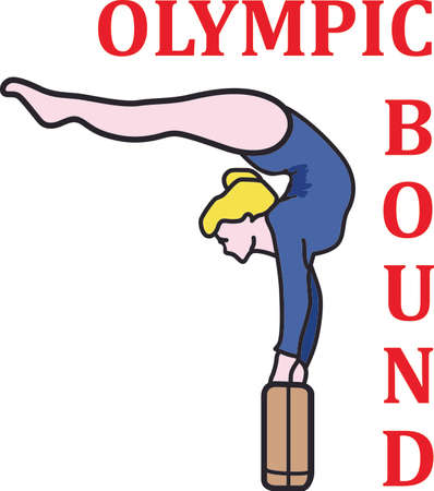 All star, extreme athlete is the best gymnast.  Send this to the athlete you know.  She will love it! Ilustrace