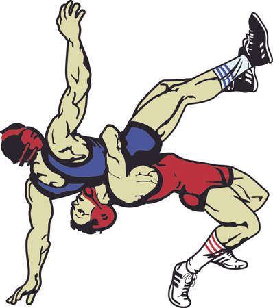All star, extreme athlete is a triple threat on the mat.  Send this to the sports athlete you know. 일러스트