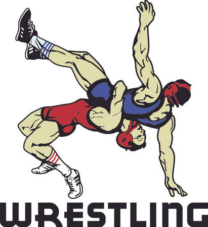 threat: All star, extreme athlete is a triple threat on the mat.  Send this to the sports athlete you know. Illustration