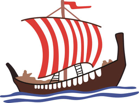 Remember your heritage with this Viking ship!