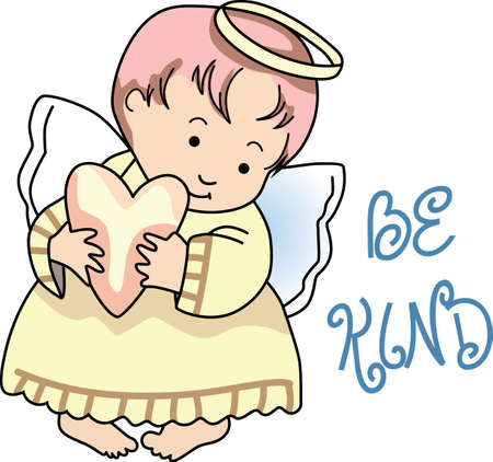 valentine cherub: Every time a bell rings and angel gets their wings.