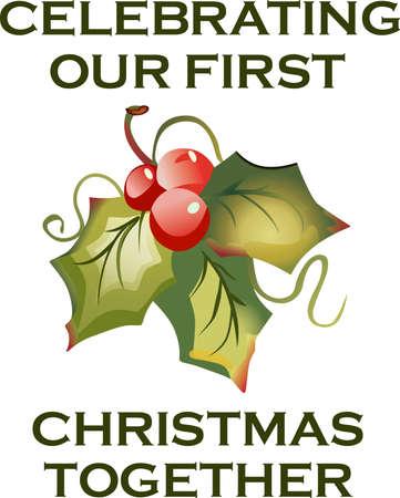 Stuur vakantie gejuich met deze mooie kerst Hulst.