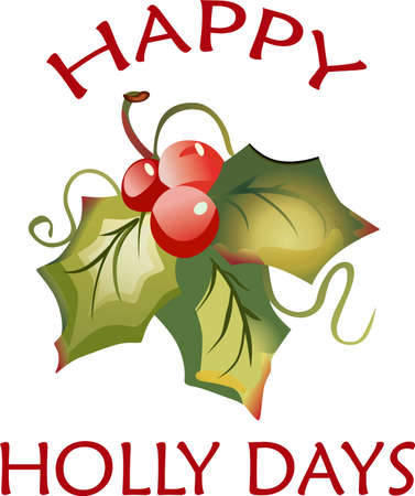 Send holiday cheers with these beautiful Christmas holly. Banco de Imagens - 44932527