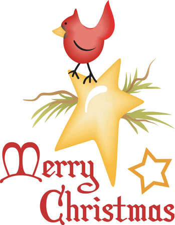 Send some Christmas cheer with this winter bird.  Joy, peace and love!  These make a perfect house warming gift.  They will love it!