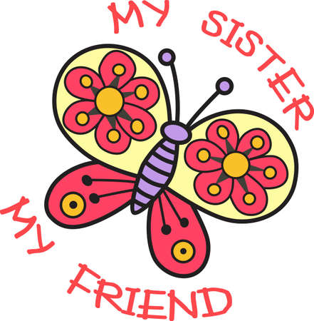 sibling: This beautiful butterfly shows a springtime design.