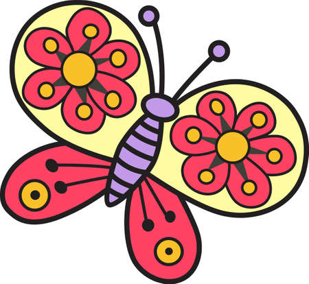 siblings: This beautiful butterfly shows a springtime design.