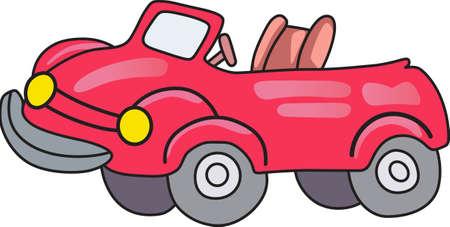 高速でこの赤いスポーツ ・ カーと激怒。 次のレースのための完璧なデザイン。