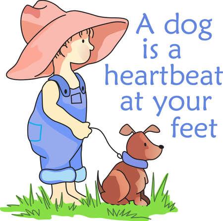 Een hond is een hartslag aan je voeten. Dit is een perfect ontwerp voor een kleintje.