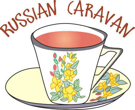 addition: The perfect addition for a relaxing afternoon, your favorite cup of tea.  Illustration