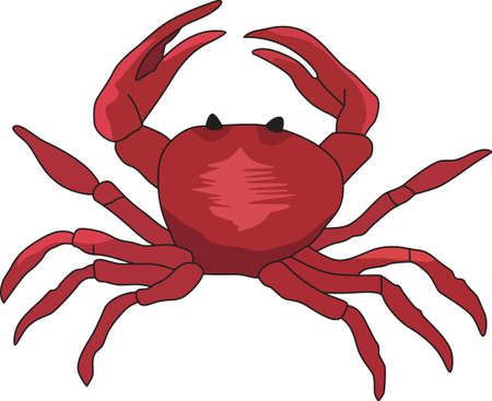 notions: This cute crab design is perfect for a seaside theme.  Catch these designs from Great Notions! Illustration