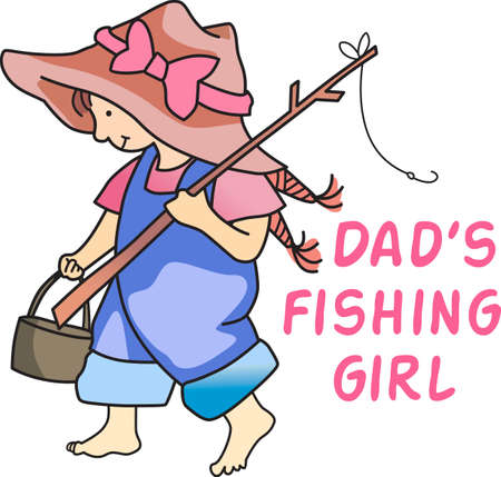 country girl: Dont forget this cute design when you go fishin.  This design is perfect to take with you when you go.  Everyone will love it!