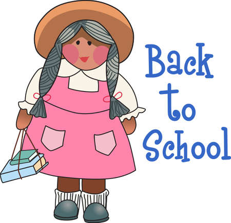 schoolkids: Use this cute girl design for a lovely gift for a teacher. Illustration