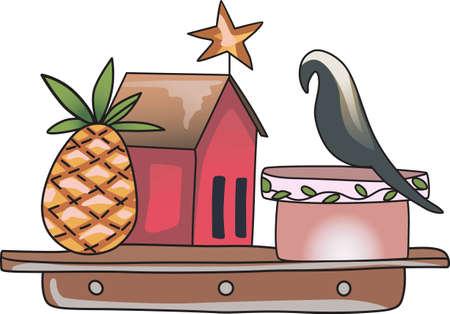 rythme: La maison de ferme de pays est un lieu de d�tente pour visiter et obtenir loin du rythme rapide de la ville. Illustration