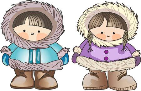 esquimales: Este esquimal es el dise�o de invierno perfecto para los ni�os.
