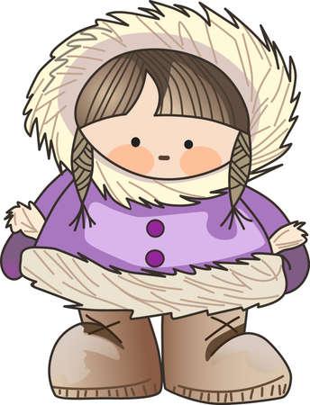 esquimales: Este esquimal es el diseño de invierno perfecto para los niños.