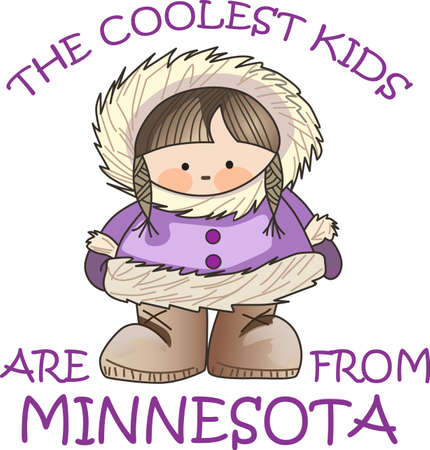 alaskabo: This Eskimo is the perfect winter design for children.