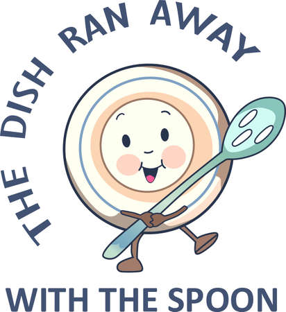 Plate and spoon, remembering this nursery rhyme brings back memories of the carefree life as a child.  Give this to a child and make more fun memories.  They will love it!