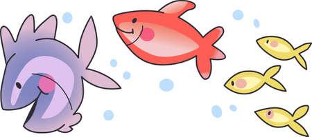 Ces petits poissons vont nager par. Envoyez votre petit au pays des rêves avec ces poissons mignons. Parfait pour la crèche!