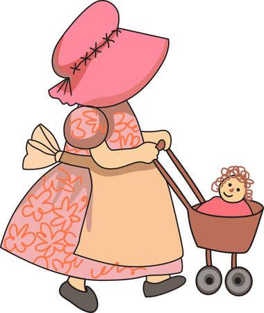 이것은 바느질하는 어린 소녀의 아름다운 디자인입니다. 소녀를위한 완벽한. 스톡 콘텐츠 - 44952744
