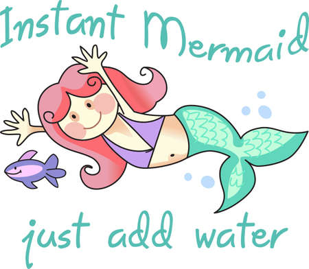 water nymph: This cute little mermaid is perfect to take to the beach or perfect for childs room.  Give as a gift.  They will love it!
