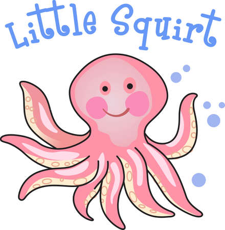 cephalopod: This cute octopus is perfect to take to the beach or perfect for childs room.  Give as a gift.  They will love it!