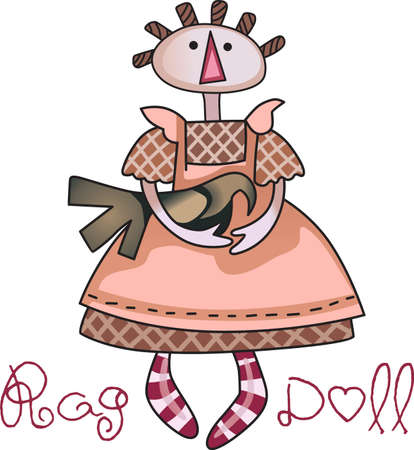 This cute rag doll design is perfect to be cherished by a loved one.   Ilustrace
