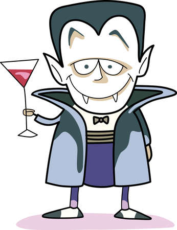 ghouls: This trick or treat Vampire is here to wish you a happy Halloween.  Buy this as a special treat.  Your friends will love it! Illustration