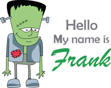 trick or treat: This trick or treat Frankenstein is here to wish you a happy Halloween.  Buy this as a special treat.  Your friends will love it!