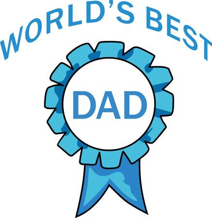 best dad: The worlds best dad is the most valuable person in a childs life.  Get these designs to show him how much he is appreciated. Illustration