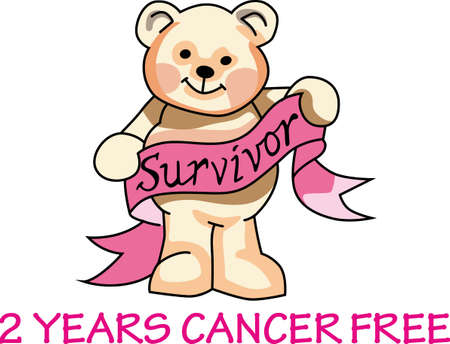 This adorable bear holding a pink cancer ribbon! Support someone you know and help find a cure for breast cancer.  Send hope and awareness to all!