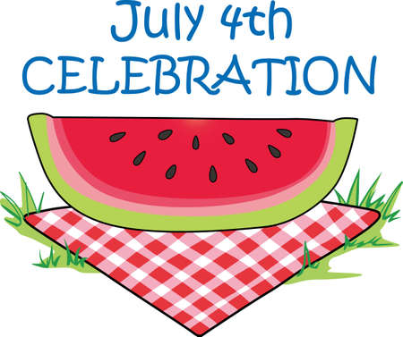 excursion: A campers dining room is a picnic table at a park.  Take this great slice of watermelon with you on your next family camp out.  Everyone will love it!