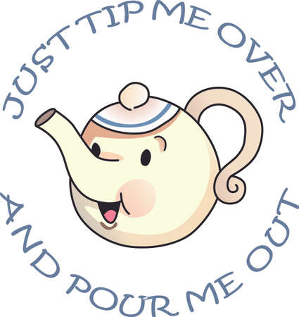 pitcher's: Its time for tea  to solve everything.  Give this to someone who needs cheering up.  They will love it! Illustration
