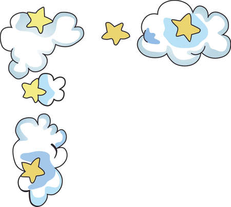 stratus: Send your little one to dreamland with this cute cloud and star border.  Perfect for the nursery!