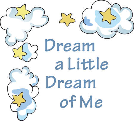 Send your little one to dreamland with this cute cloud and star border.  Perfect for the nursery!