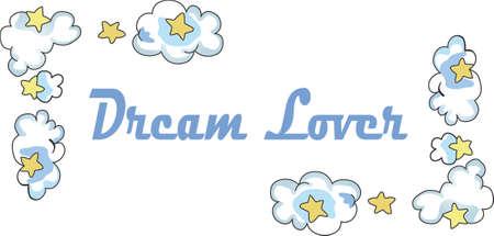 이 귀여운 구름과 별 모양의 테두리로 당신의 어린 아이를 꿈 나라로 보내십시오. 보육원에 딱!