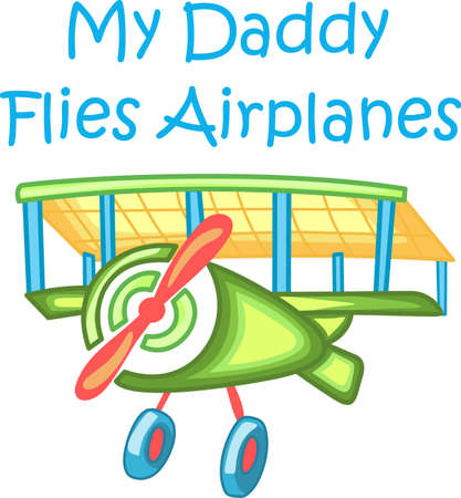 Enjoy flying to visit relatives.  Let everyone know.  They will love it! Illustration
