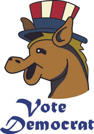 이 귀여운 디자인으로 다음 선거에서 정당을 지원하십시오.