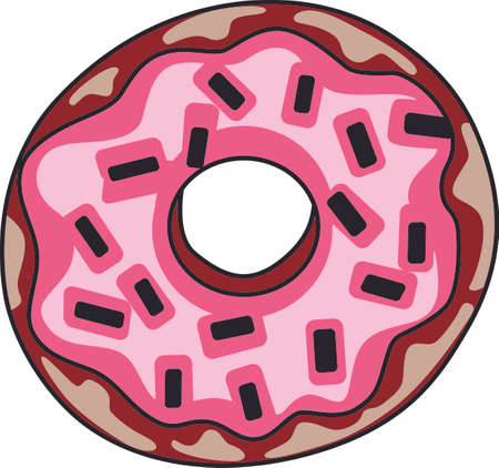This is my kind of balanced food pyramid.  Perfectly prepared donuts.  Get these designs from Great Notions. Ilustracja