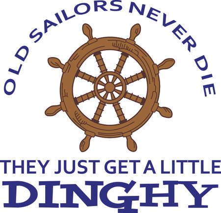 The perfect design for a shirt or hat, give this adorable design for your favorite sailor.  He will love it!